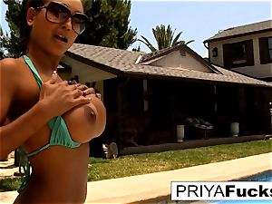 super hot summer day in the pool with a fabulous Indian sex industry star