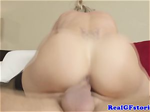 red-hot blond housewife mummy pummeled