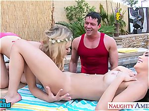 sweethearts Dillion Harper and Natalia Starr gets facialized