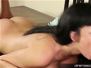 Airerose dark-haired babe Anissa Kate penetrates Some youthfull fellow