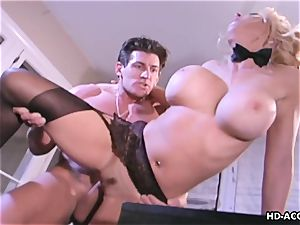 Kelly gets to be inserted deep by her man's shaft