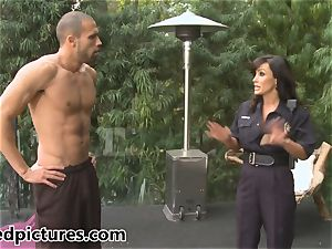 busty cop Lisa Ann gives out her chisel punishment