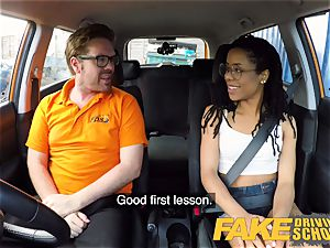 fake Driving school black yankee minx Kira Noir