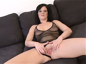 crazy black-haired mummy becomes sex industry star fucked ebony guy
