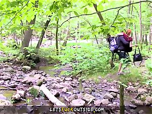 puny redhead romped in the woods