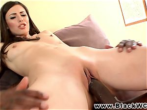 Casey Calvert cheats with a big black cock in her tiny brown sphincter