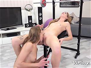 urinating lesbians Alexis Crystal And Barbara jiggly