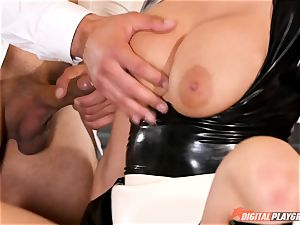 vag beating the crazy fuck-a-thon sub maid Britney Amber