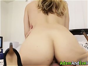 Sarah Vandella takes it stiff from behind