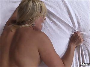 warm blondie milf internal cumshot enjoyment