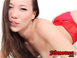 cock-squeezing japanese rubdown fondle, tug, deep-throat by Kalina Ryu