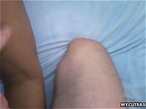 asian girlfriend getting her dousing humid twat plumbed