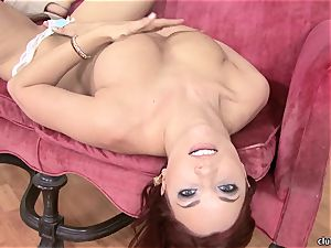 Jayden Cole whips out her edible chubby titties