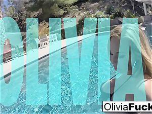 Olivia Austin plays with her vulva