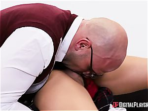 super-naughty student is worth to be disciplined for her misbehavior