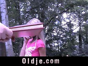 Oldman wuth sturdy stiffy ravages woman s donk