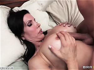 son-in-law observes as his daddy ravages his mature domme with immense bosoms