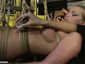 Kathia Nobili and Mandy Bright body tying with cord