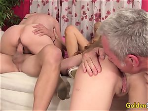 Mature lovemaking with The hottest older stunners