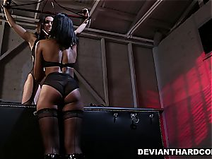 girl/girl dominance and strap-on action